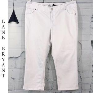 NWT Lane Bryant White Capri's